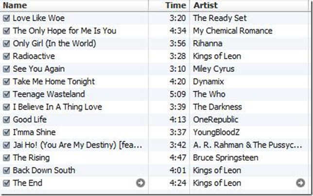 playlist 10-21